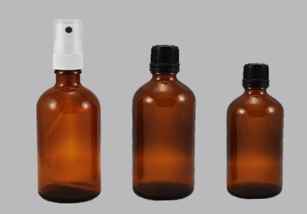 Stekleničke (rjave) z različnimi pokrovčki
