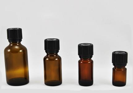 Stekleničke za eterična olja s pokrovčkom